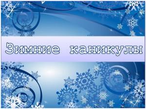 зимние каникулы 16